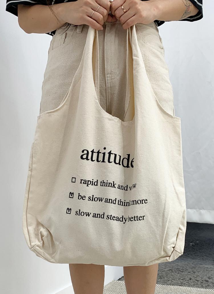 attitudeトートバッグ