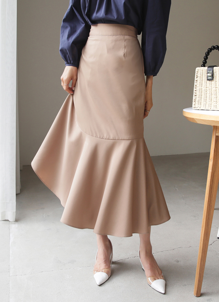 アンバランスマーメイドスカート・全4色