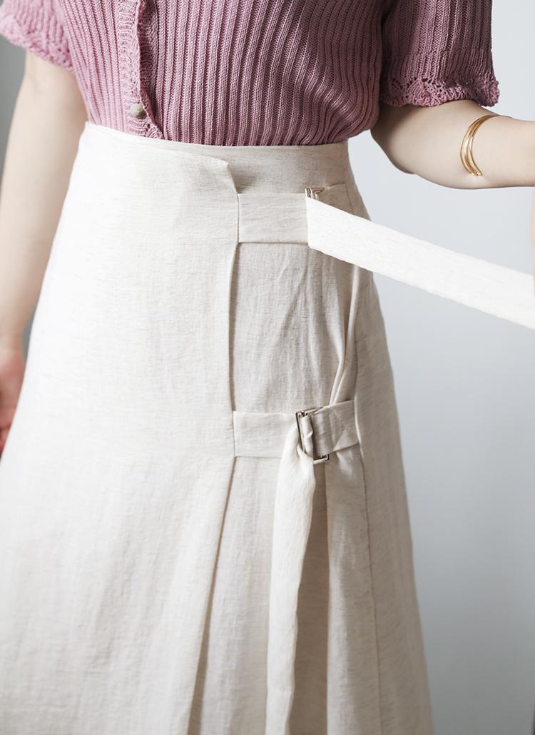 サイドダブルベルトスカート・全2色