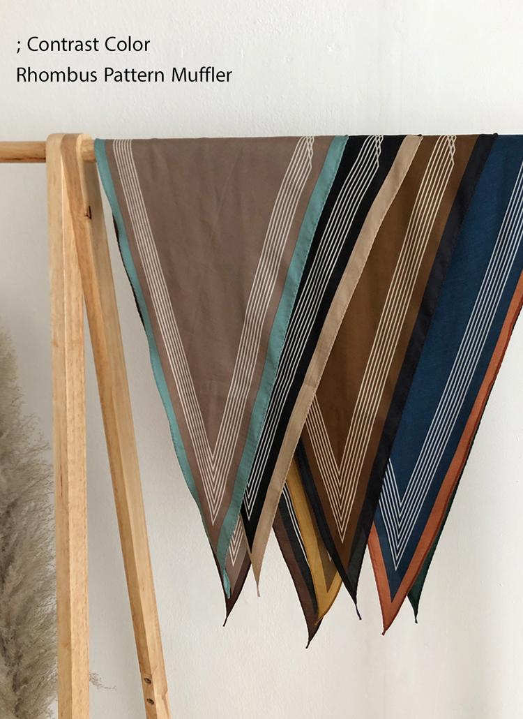 コントラストカラースカーフ・全4色