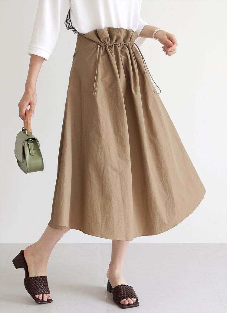 ドロストフレアスカート・全2色