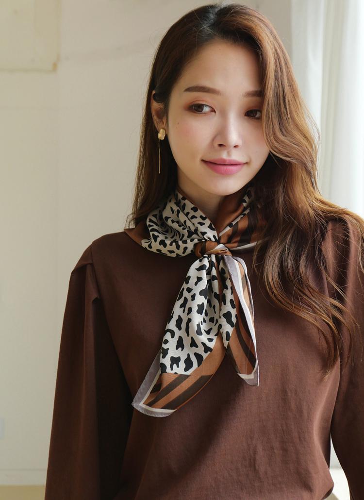 レオパード配色スカーフ・全5色