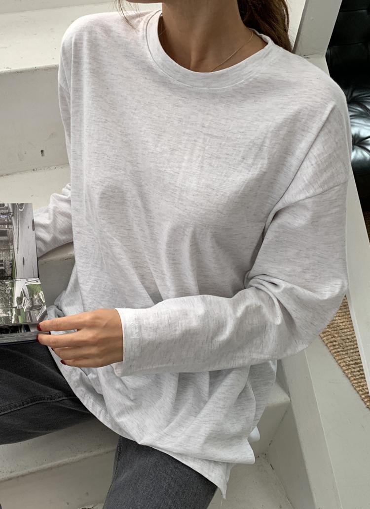 スリットヘム長袖Tシャツ