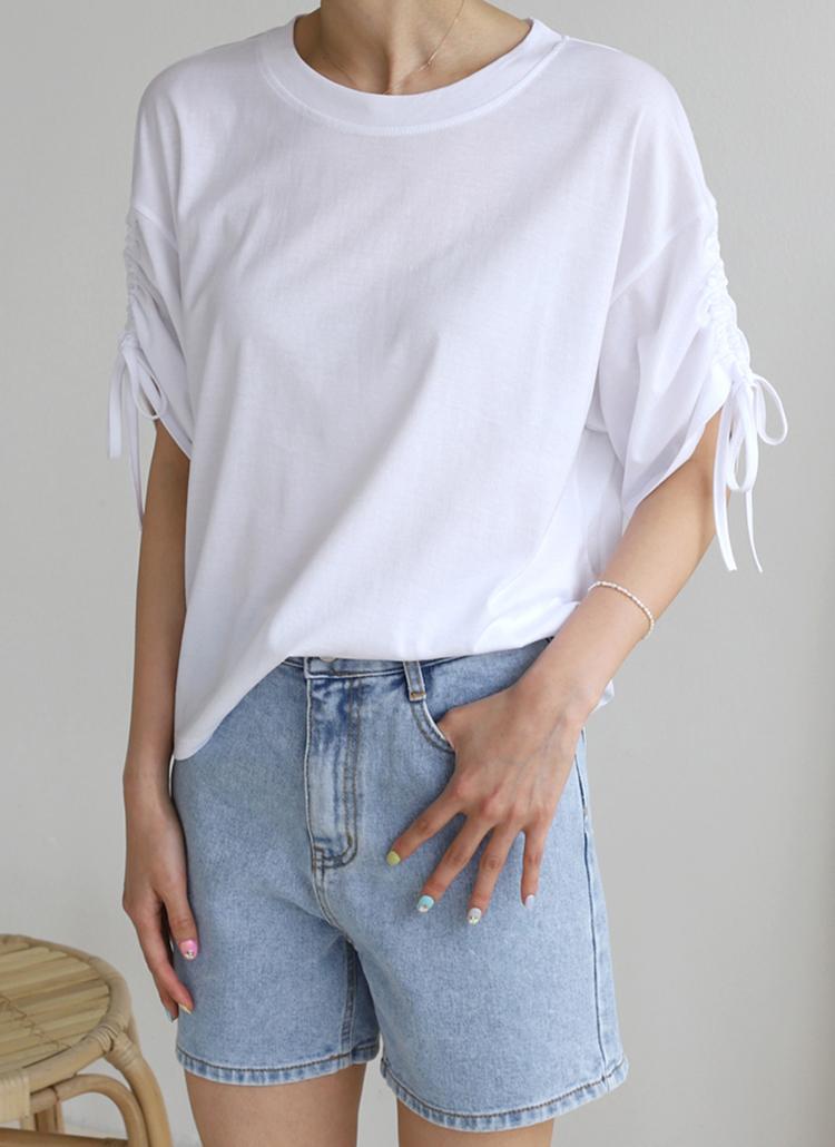 ストリングスリーブシャツ