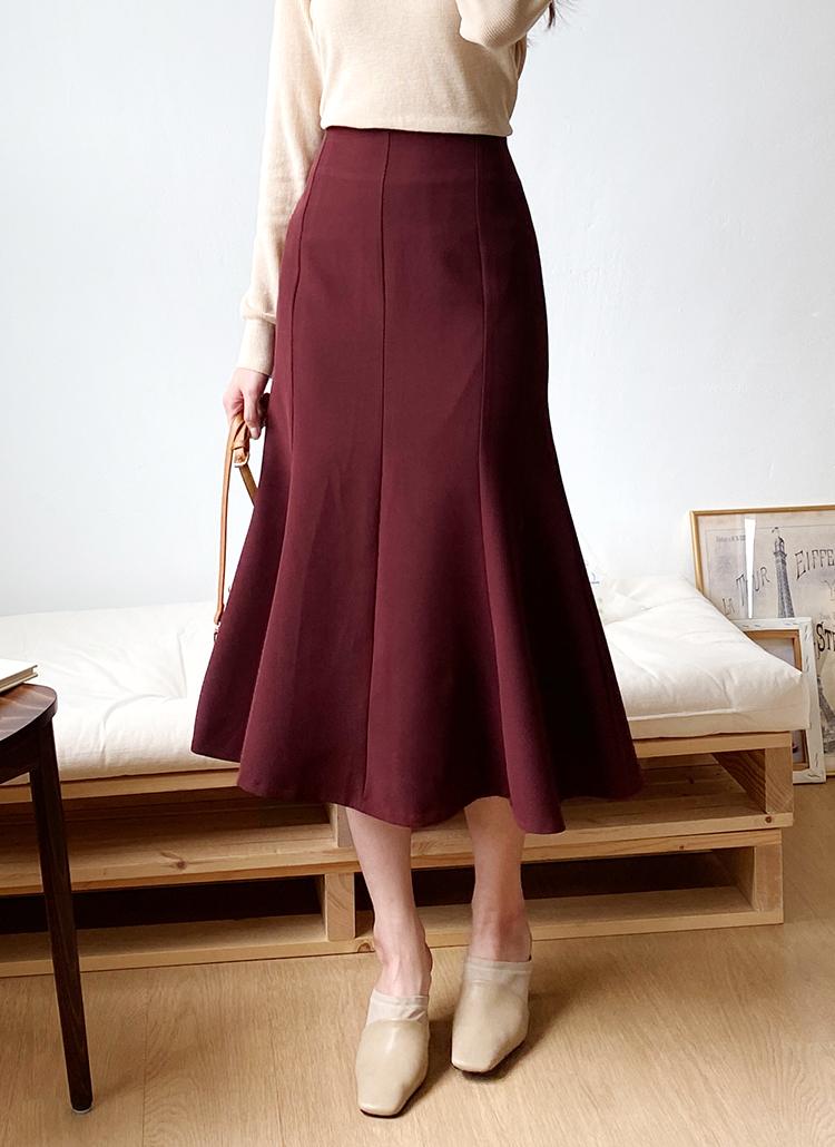 ロングマーメイドスカート・全6色
