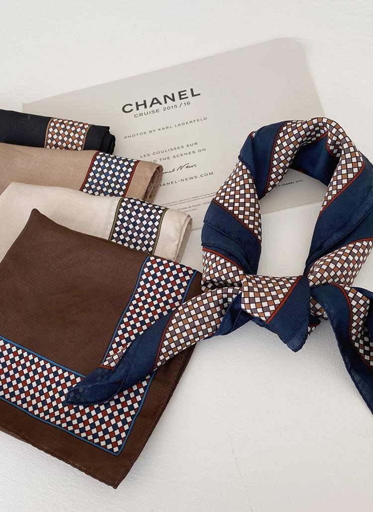 チェックラインスカーフ・全5色