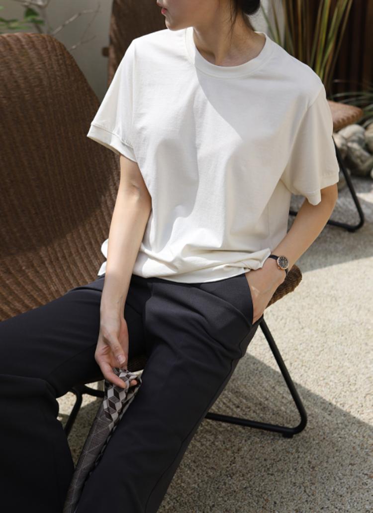 ナイロン混サマーTシャツ
