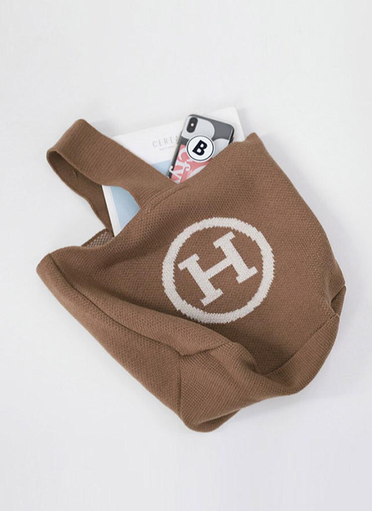 Hロゴニットバッグ