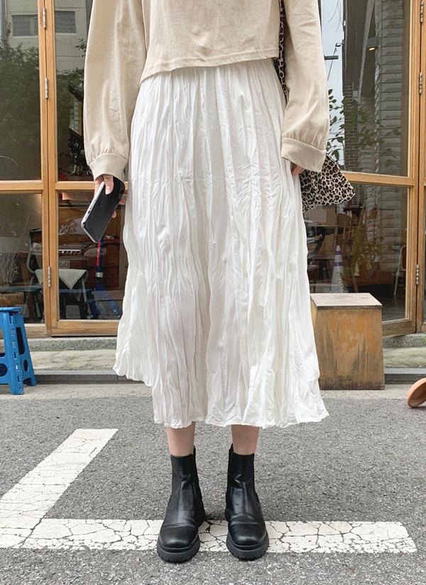リンクルロングスカート