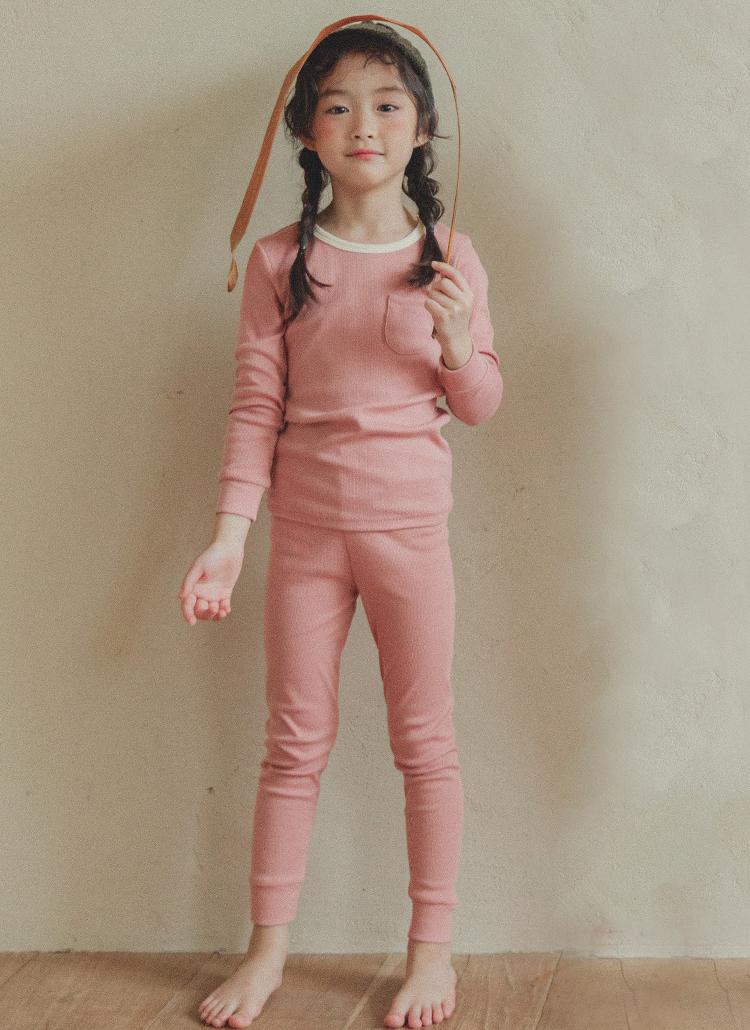 ポケットTシャツルームウェアSET(ピンク)