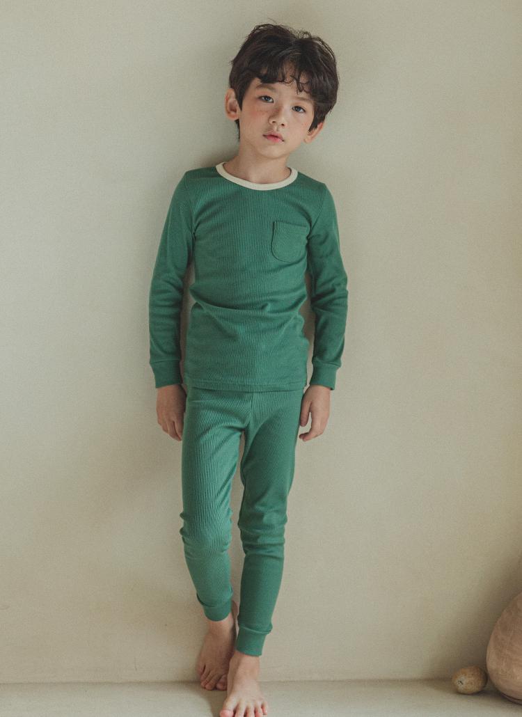 ポケットTシャツルームウェアSET(グリーン)