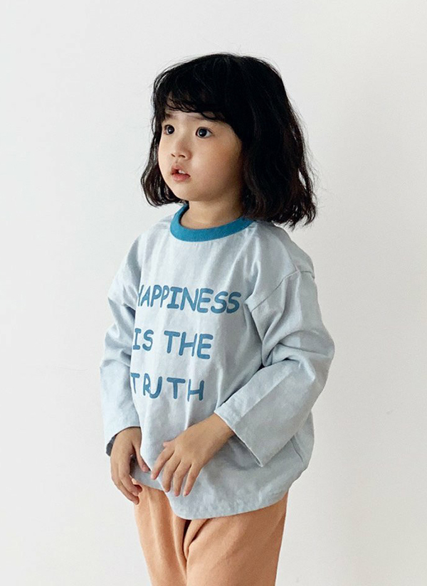 HAPPINESS配色Tシャツ