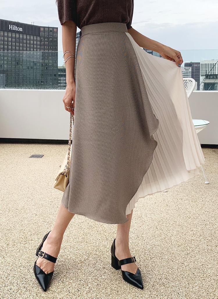 チェックプリーツスカート・全2色