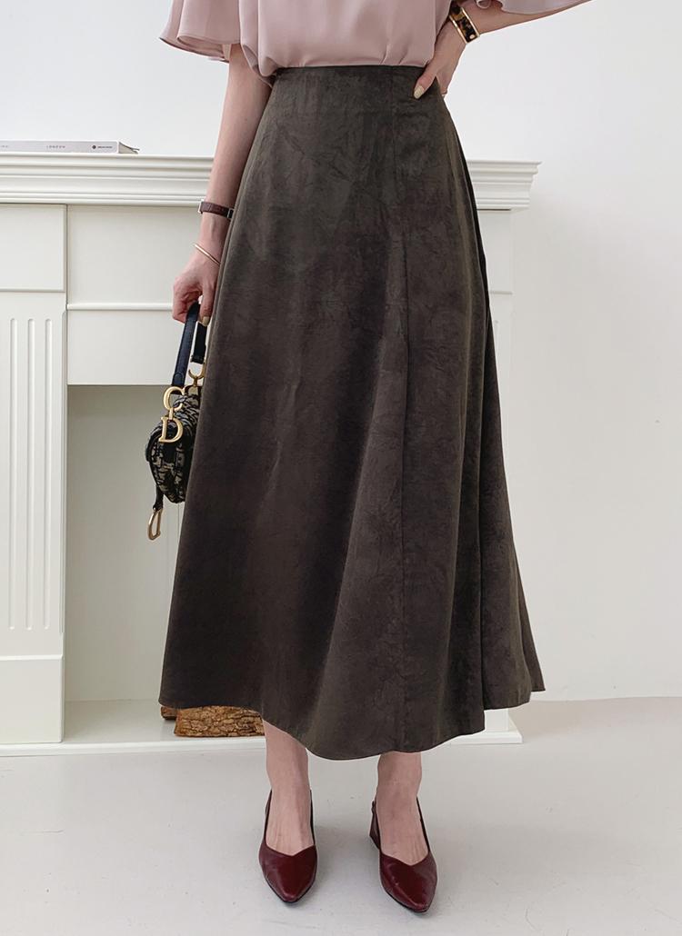 フレアロングスカート・全4色