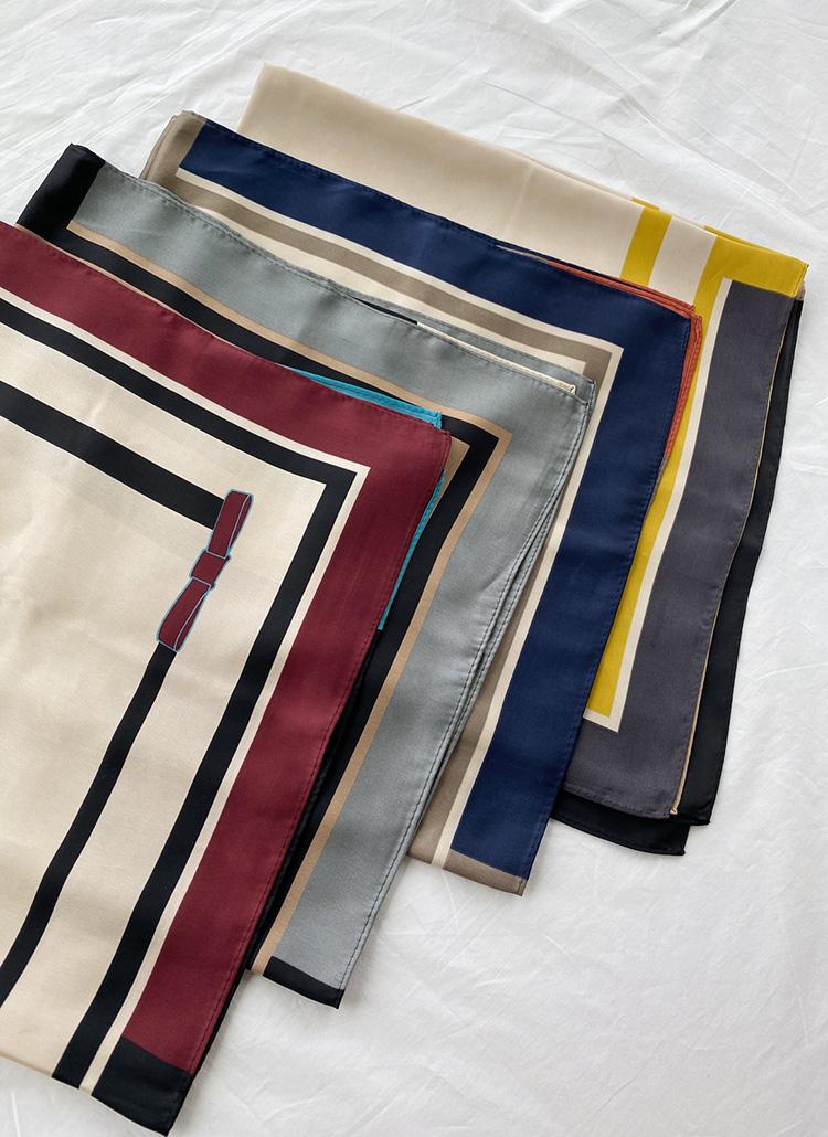 リボン配色スカーフ・全5色