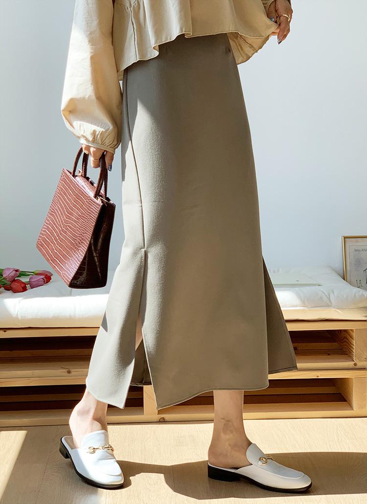 サイドスリットHラインスカート・全3色