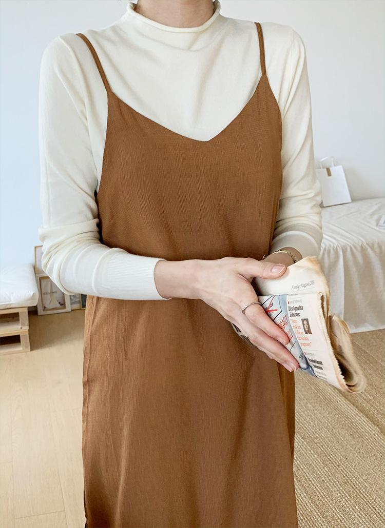 ラップシャツ&スリーブレスワンピースSET・全3色