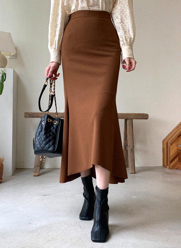 ロングマーメイドシルエットスカート