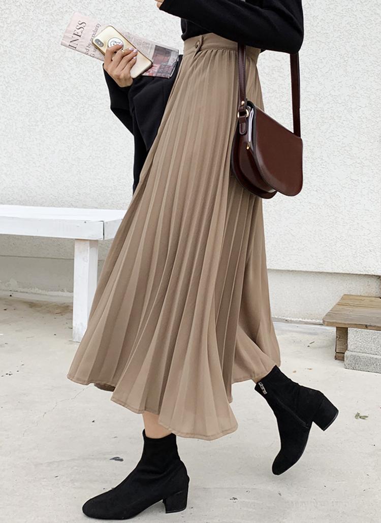 プリーツロングラップスカート