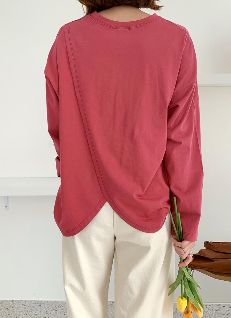 バックスリットプリントTシャツ・全4色