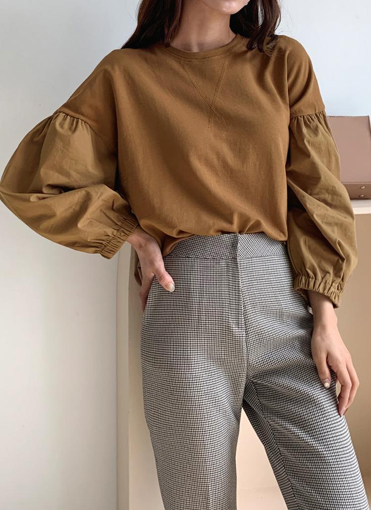コントラストパフTシャツ・全3色