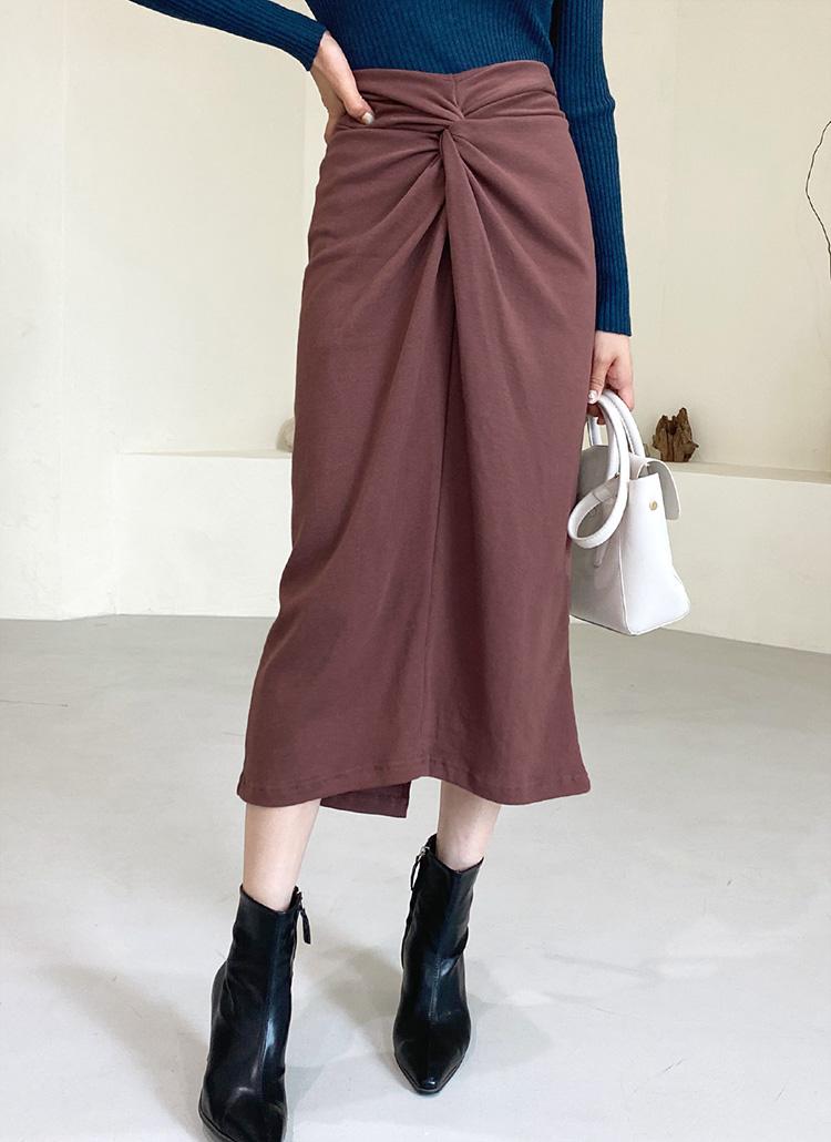 スウェットツイストスカート・全4色