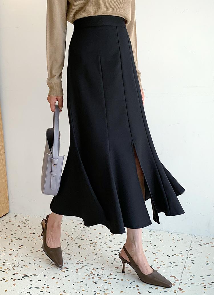 スリットフレアスカート・全2色