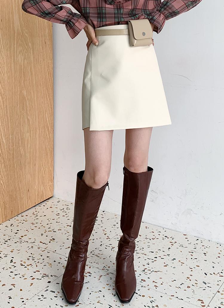 レザーライクミニスカート・全2色
