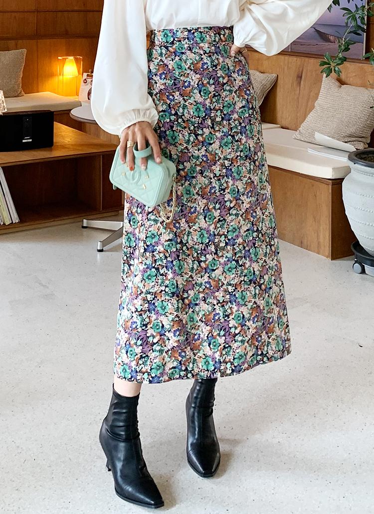 フローラルフレアスカート・全2色