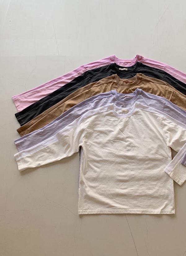 配色ラインスリーブTシャツ