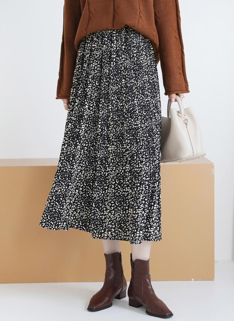 レオパードプリーツスカート・全2色