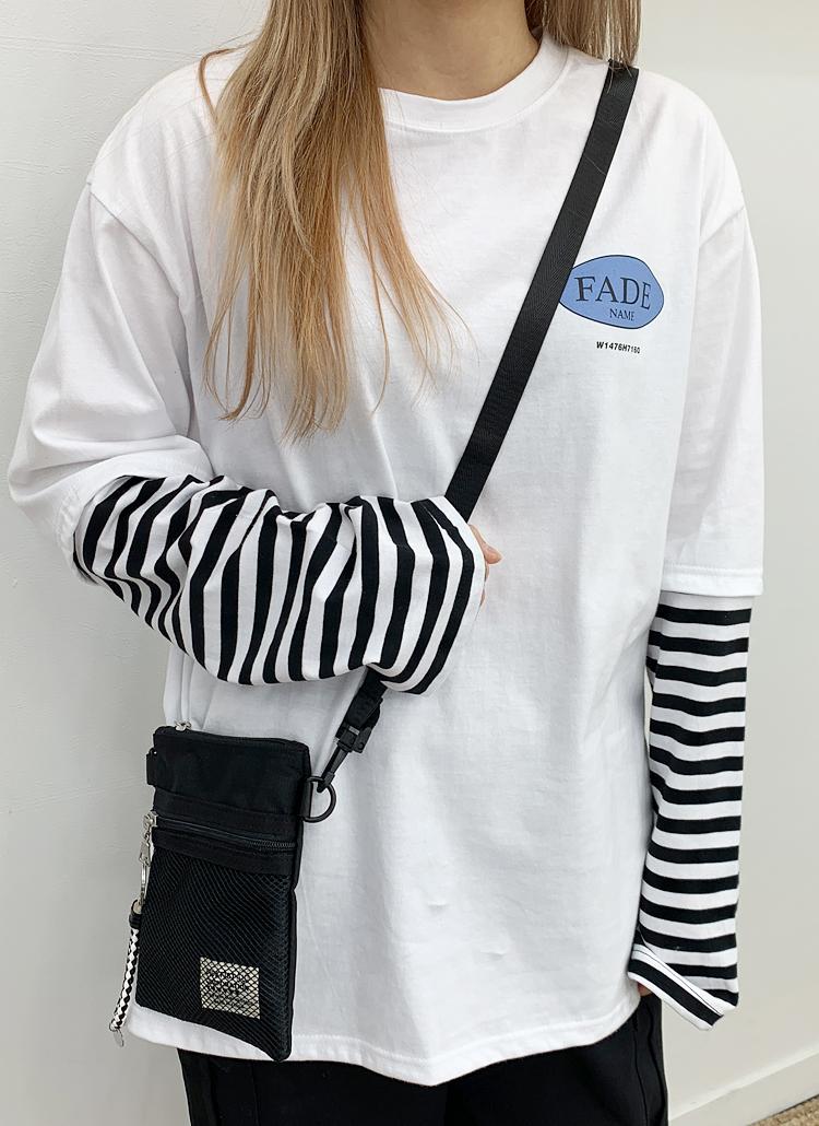 FADEロゴボーダースリーブTシャツ