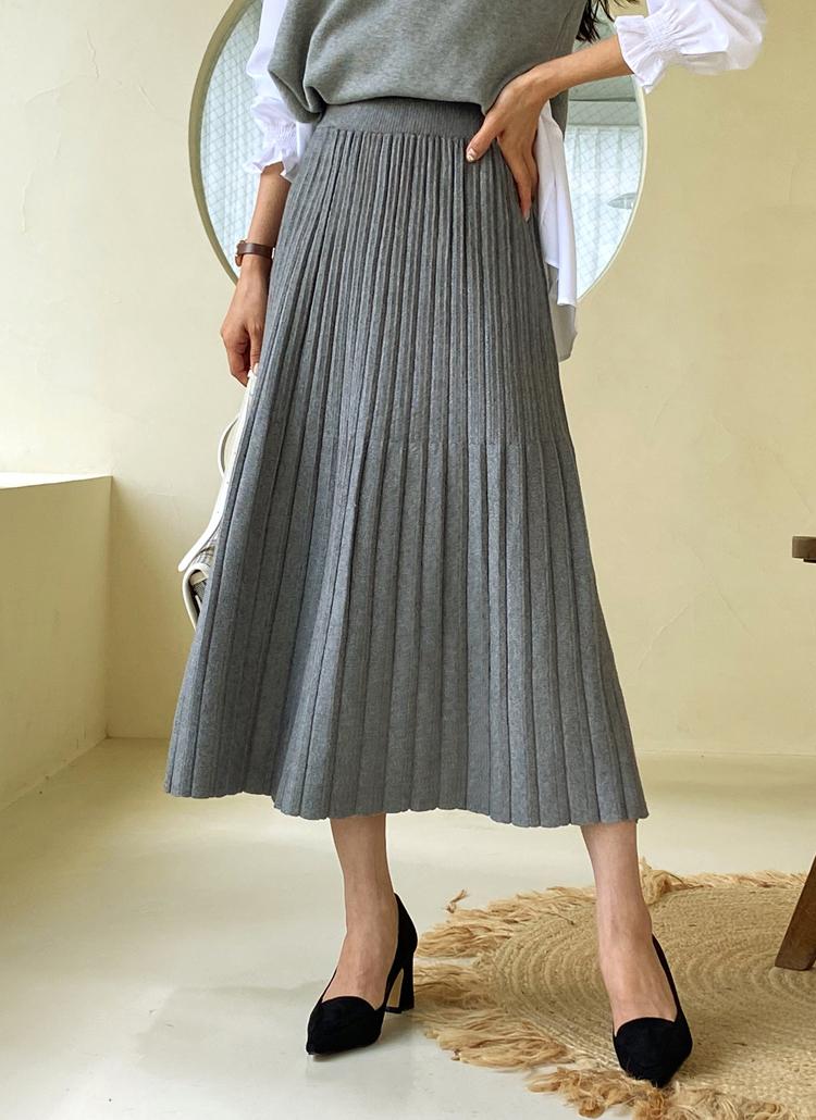 フレアリブスカート・全4色