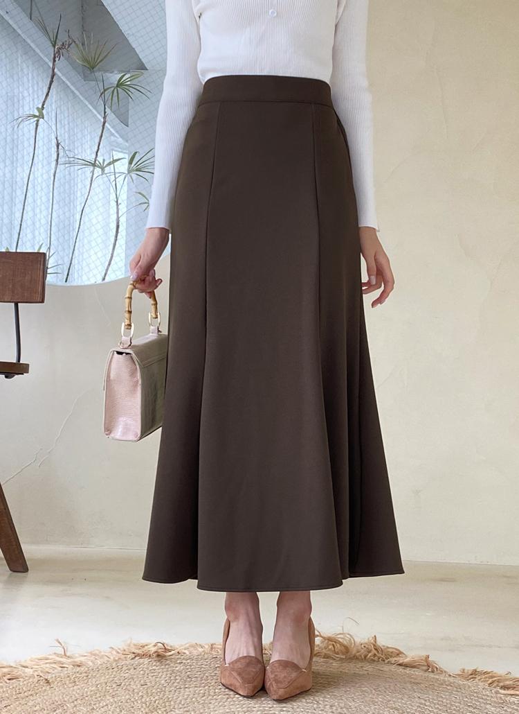 ロングマーメイドスカート・全3色