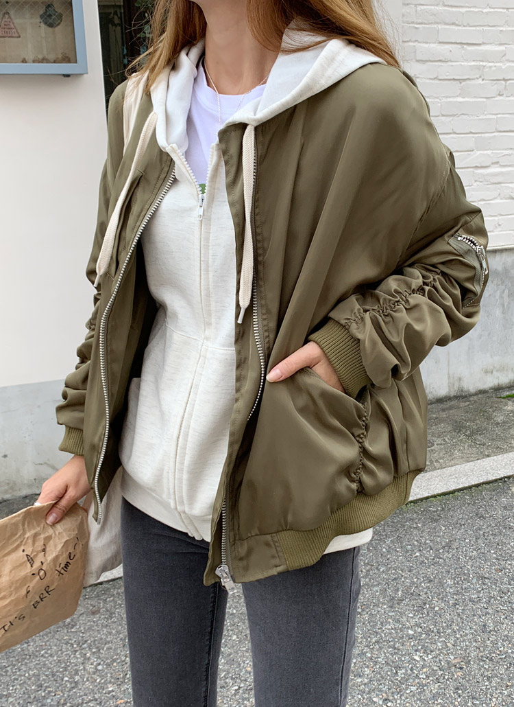 袖ギャザーMA-1