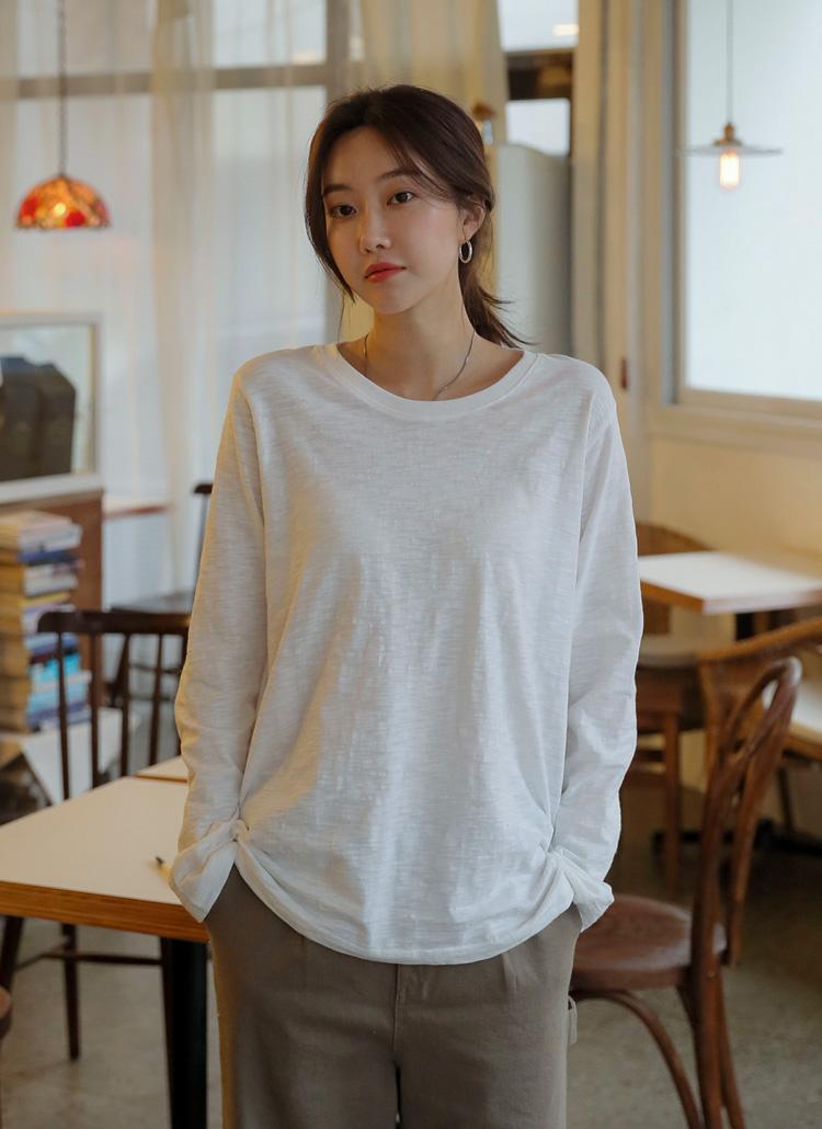 長袖スラブTシャツ