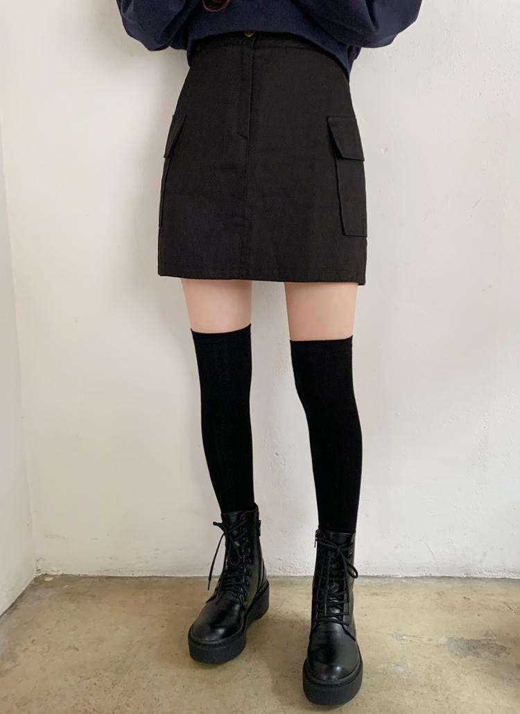 サイドフラップポケットミニスカート