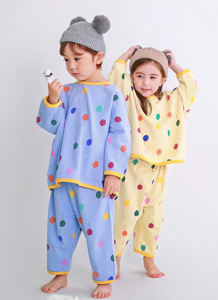 バルーンプリントパジャマ上下SET