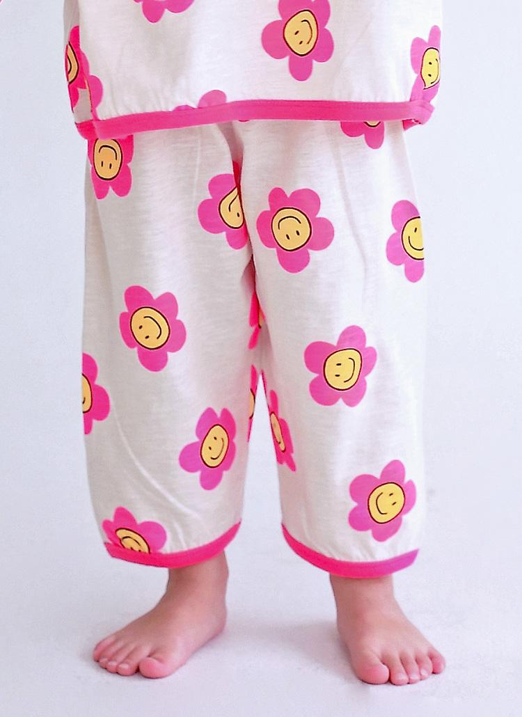 スマイルフラワーパジャマパンツ