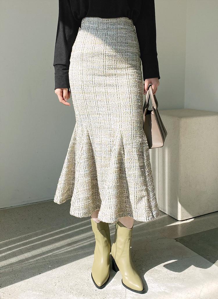ツイードマーメイドスカート・全2色
