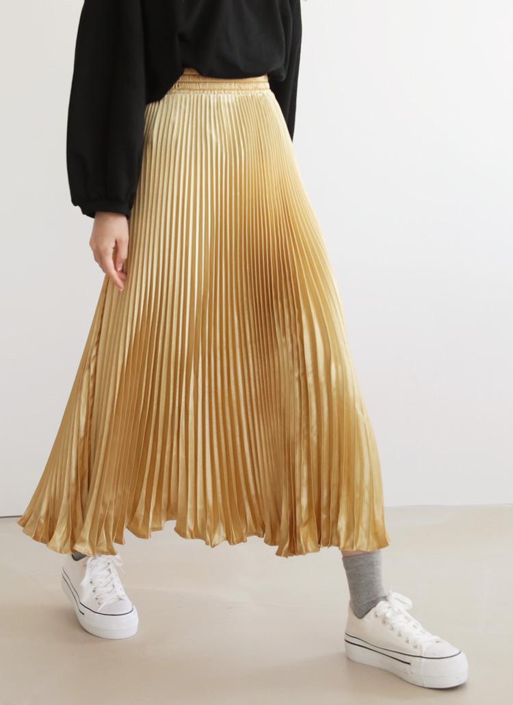 プリーツロングスカート・全5色