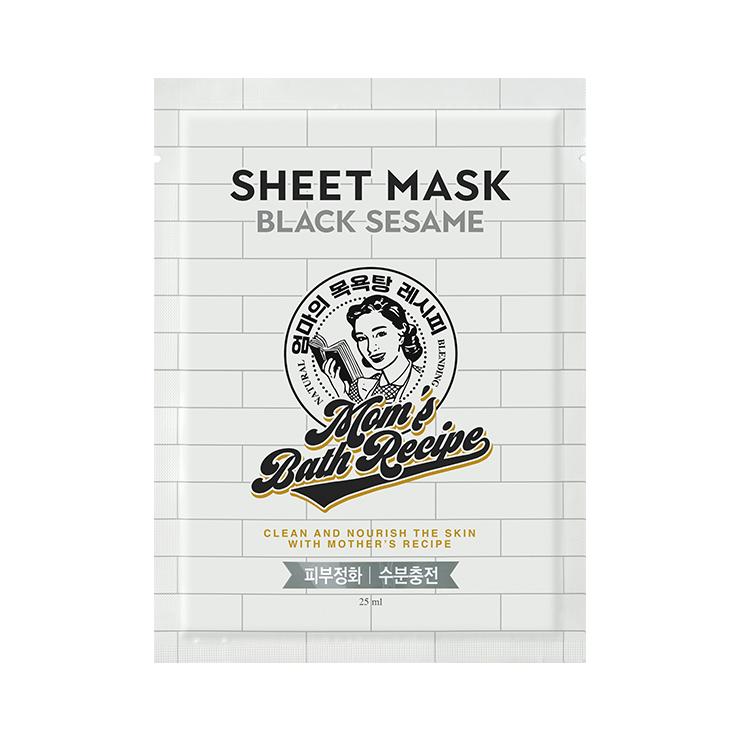 [マムズバスレシピ] ブラックセサミシートマスク