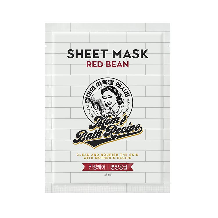 [マムズバスレシピ] レッドビーンシートマスク