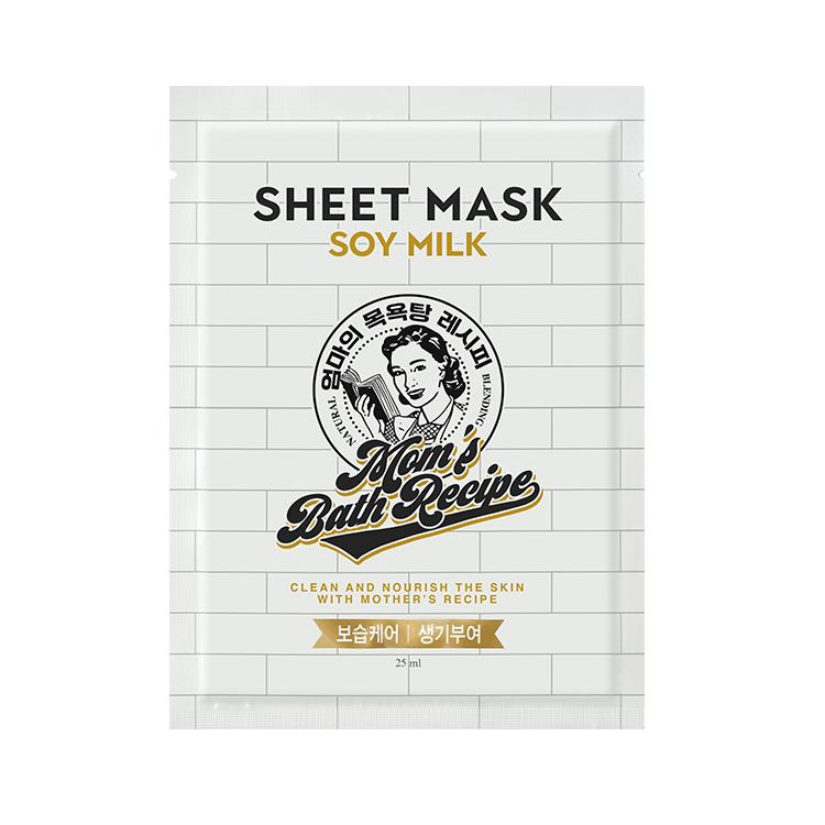 [マムズバスレシピ] ソイミルクシートマスク