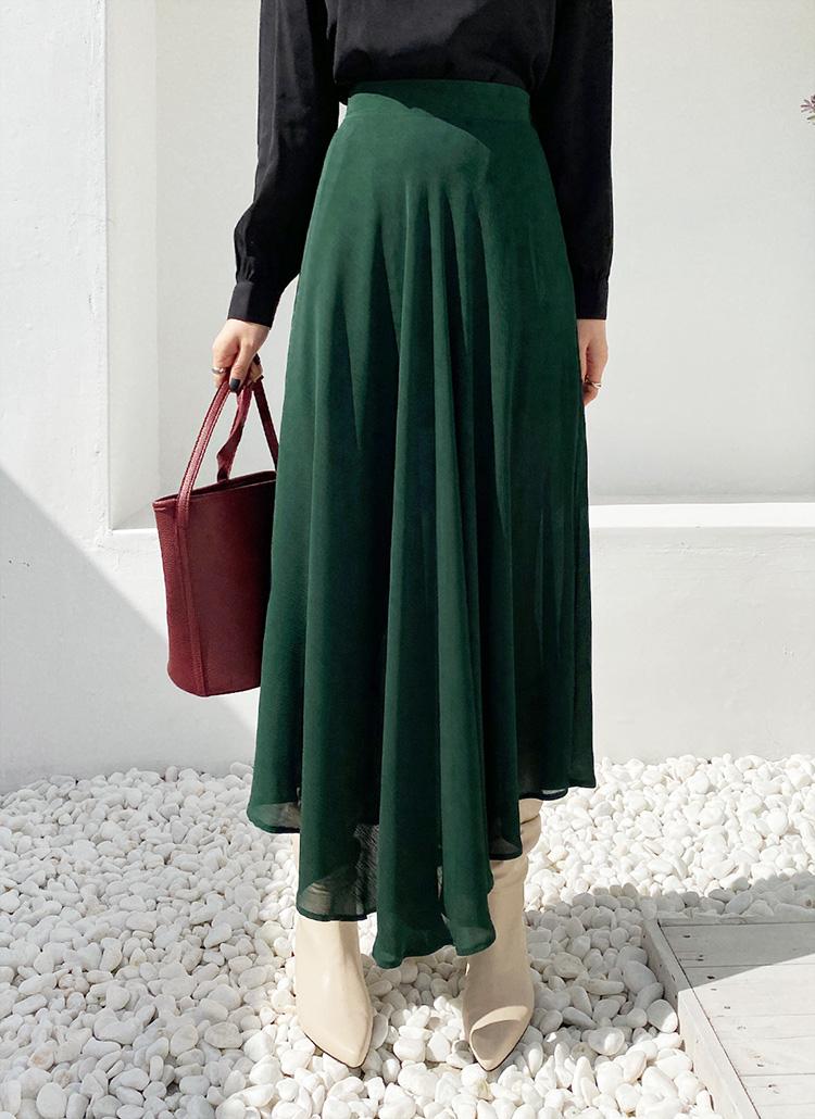 シフォンスリットスカート・全2色