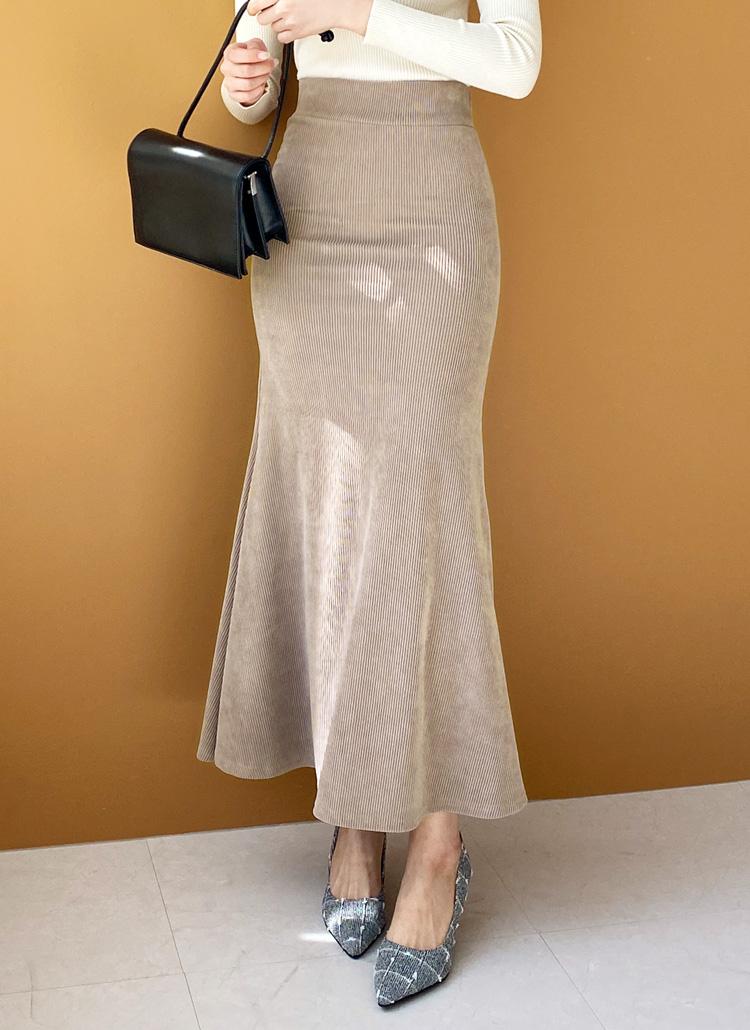 リブマーメイドスカート・全3色