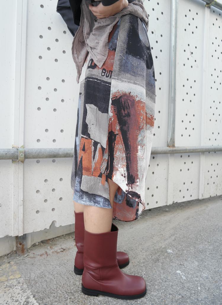 レタリングペイント風スカート