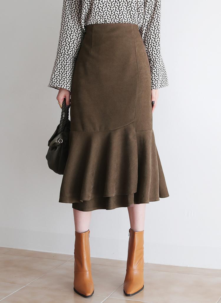 スリットフレアヘムスカート・全3色