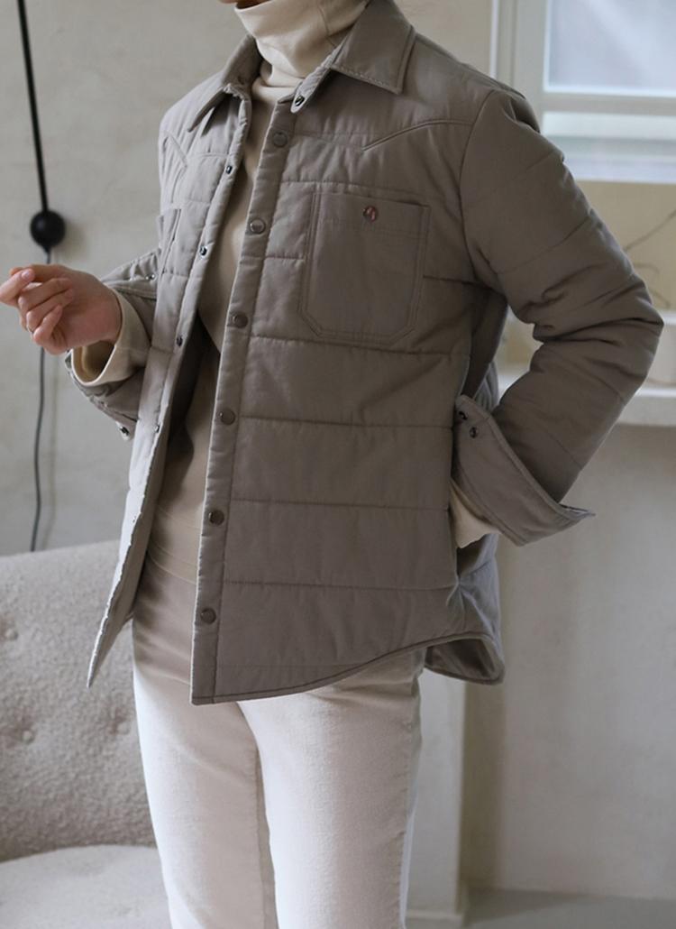 カラー中綿ジャケット