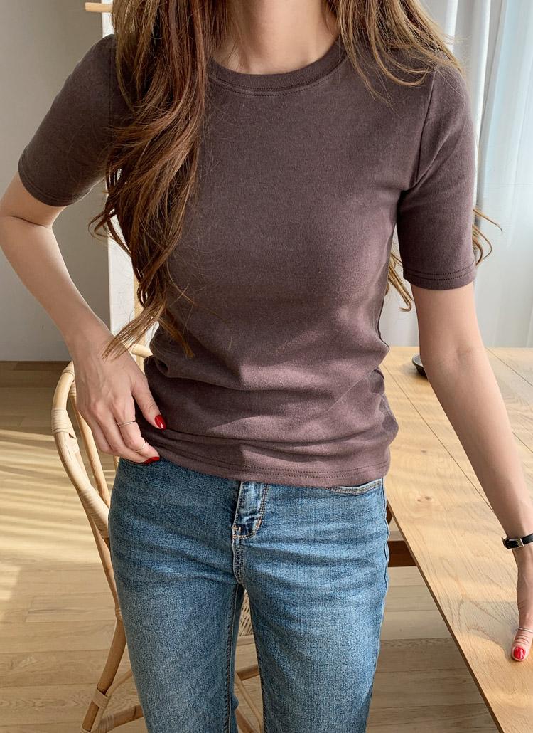 ピーチ起毛半袖Tシャツ